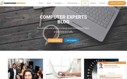 Screenshot of Blog askcomputerexperts.com - Blog - Computer Experts - captured Nov. 6, 2018