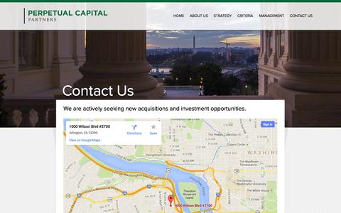 Screenshot of Contact Page perpetualcapitalpartners.com - Contact Us – Perpetual Capital Partners - captured Sept. 29, 2014