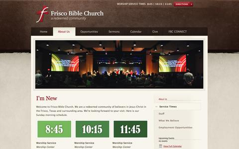 Screenshot of Services Page friscobible.com - I'm New - captured Oct. 6, 2014