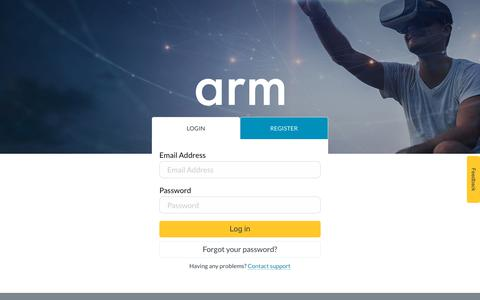Screenshot of Login Page arm.com - Login – Arm - captured Dec. 22, 2017