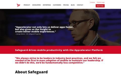 Screenshot of Case Studies Page appcelerator.com - Safeguard Case Study | Appcelerator - captured Dec. 29, 2017