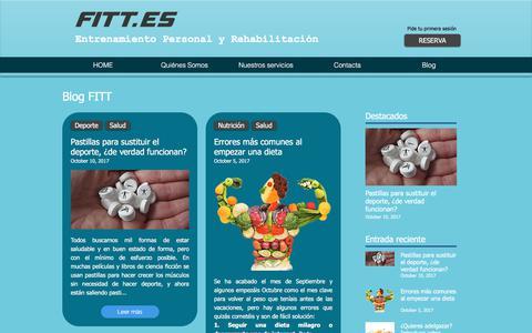 Screenshot of Blog fitt.es - Blog FITT deporte y salud - captured Oct. 13, 2017