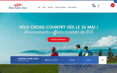 Screenshot of Home Page mont-sainte-anne.com - Accueil - Mont-Sainte-Anne - captured May 18, 2018