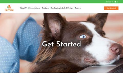 Screenshot of Contact Page biminipethealth.com - Get Started | Bimini Pet Health - captured Dec. 9, 2018