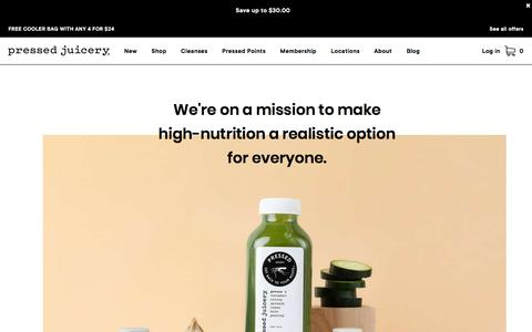 Screenshot of About Page pressedjuicery.com - Our Story – Pressed Juicery Company History - captured Dec. 12, 2019