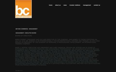 Screenshot of Team Page beyondcommerce.com - Beyond Commerce -Investors - captured Sept. 13, 2014