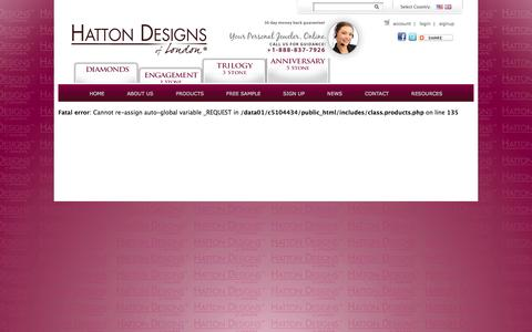 Screenshot of Signup Page hattondesigns.com - Settings, Collets, Shanks, Bands, Rings, Mounts, Engagement Rings, Jewelry, Jewelry Tools, Hatton Designs of London, Design & Set - captured Oct. 2, 2014