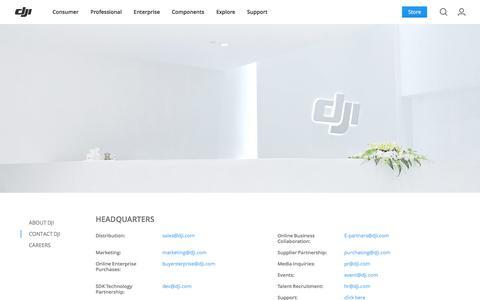 Screenshot of Contact Page dji.com - DJI - Contact Us - captured Oct. 23, 2017