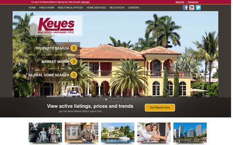 Screenshot of Home Page keyes.com - Florida Real Estate & Homes for Sale | Keyes Realtors - captured Sept. 24, 2014