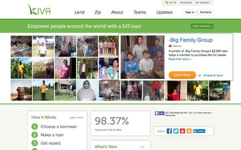 Kiva - Loans that change lives.