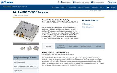 Trimble BD920-W3G Receiver