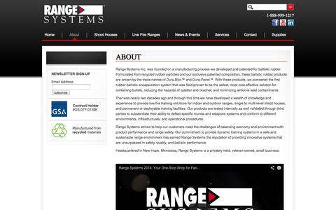 Screenshot of About Page range-systems.com - Range Systems Shoothouses and Tactical Shooting Ranges  | Range-Systems - captured Oct. 26, 2014