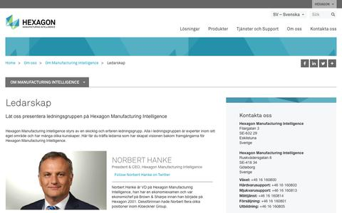 Screenshot of Team Page hexagonmi.com - Ledarskap | Hexagon Manufacturing Intelligence - captured Nov. 25, 2017