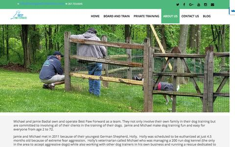 Screenshot of About Page bestpawforwardinc.com - Best Paw Forward's Dog Trainers - captured June 27, 2016