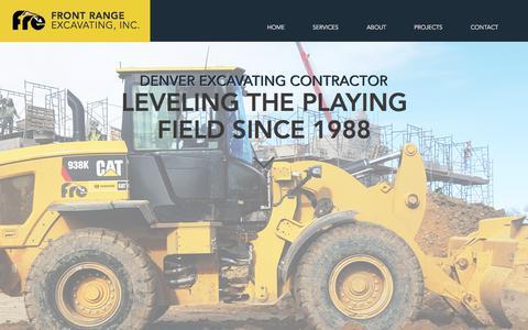 Screenshot of Home Page frontrangeexcavating.com - Front Range Excavating, Inc.   Denver Excavating Contractor - captured Oct. 14, 2017