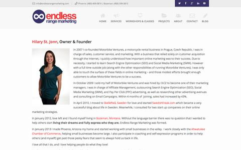 Screenshot of About Page endlessrangemarketing.com - About Endless Range Marketing - captured Sept. 19, 2014