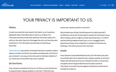 Screenshot of Privacy Page bwalk.com - Privacy Policy   Boardwalk - captured Sept. 24, 2018