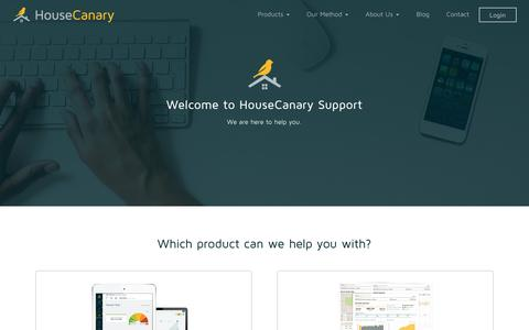 Screenshot of Support Page housecanary.com - Support - captured Nov. 13, 2016