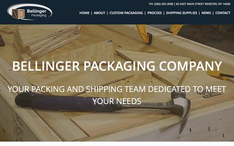 Screenshot of About Page bellingerpackaging.com - About   Bellinger Packaging Company   Bellinger Packaging - captured Feb. 7, 2016