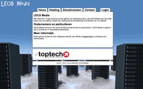 Screenshot of Home Page lecomedia.nl - LECO Media | Hosting | Automatisering | E-Marketing - captured Jan. 16, 2015