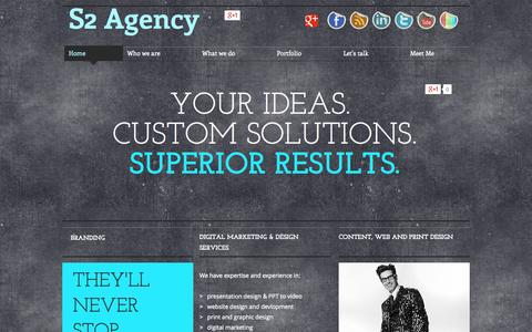 Screenshot of Home Page s2agency.com - S2 Agency: Digital Marketing, Social Media Consulting - captured Sept. 30, 2014