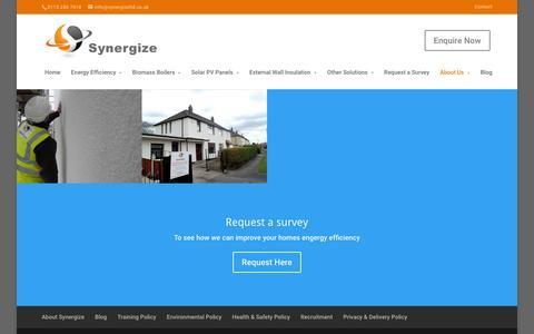 Screenshot of Case Studies Page synergizeltd.co.uk - Synergize Case Studies | Energy Efficiency Case Studies - captured Feb. 28, 2016
