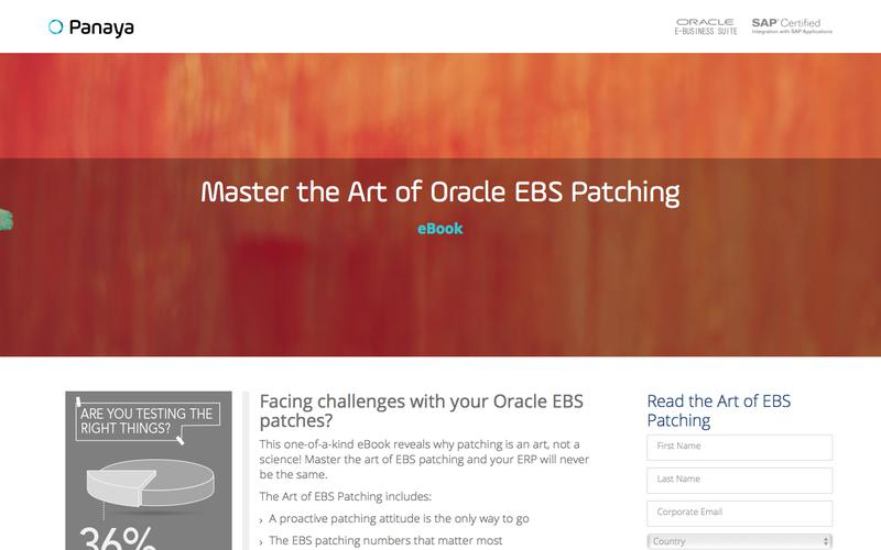 The Ultimate Guide to Oracle EBS Patching - Panaya eBook