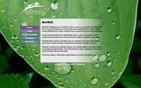 Screenshot of Home Page bonwellin.com - BonWell Intelligence - captured Oct. 5, 2014