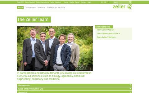 Screenshot of Team Page zellerag.ch captured Nov. 28, 2016