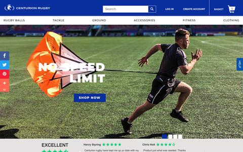 Screenshot of Home Page centurion-rugby.com - Rugby Equipment | Rugby Store | Rugby Shop | Rugby Gear                      – Centurion Rugby - captured Oct. 23, 2018