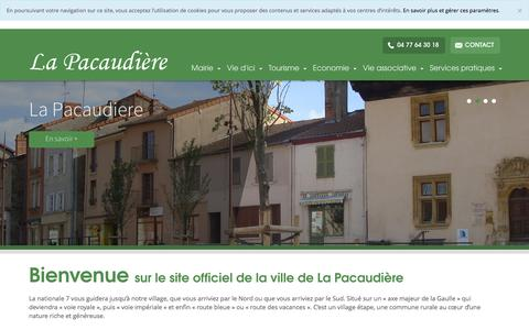 Screenshot of Home Page la-pacaudiere.fr - La Pacaudière - captured Oct. 16, 2015