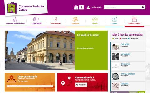 Screenshot of Home Page commerce-pontarlier.com - Commerce Pontarlier Centre - captured June 20, 2015