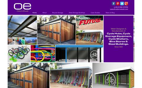 Screenshot of Home Page odoni-elwell.com - Odoni-Elwell: Cycle Storage and Steel Buildings - captured Aug. 2, 2015