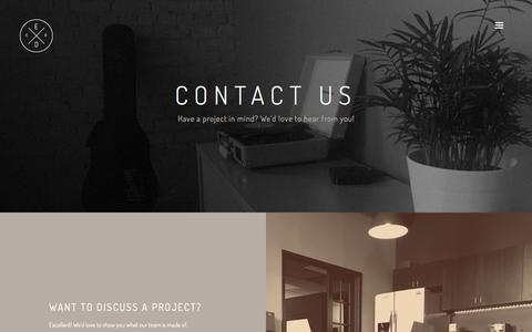 Screenshot of Contact Page elevendesignco.com - Contact – Eleven Design Co - captured June 29, 2016