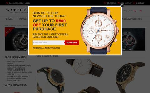 Screenshot of About Page watchfinder.co.za - Who is Watch Finder, South Africa's largest authorised online watch store - captured April 13, 2016
