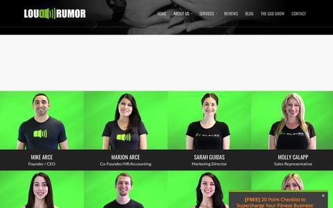 Screenshot of Team Page loudrumor.com - Our Team | Loud Rumor - captured Dec. 1, 2017