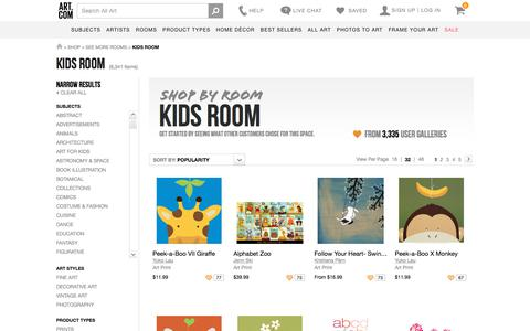 Art for Kids Room at Art.com