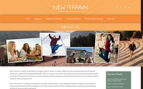 Screenshot of About Page new-terrain.com - about us | new terrain: colorado health & wellness   | new terrain: colorado health & wellness - captured Oct. 26, 2014