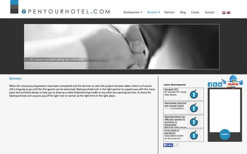Screenshot of Services Page openyourhotel.com - Services - captured Oct. 26, 2014