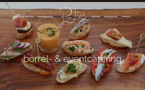 Screenshot of Home Page pintxo.nl - Pintxo - captured Dec. 9, 2015
