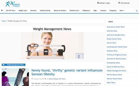 Weight Management News Archives - Women Fitness