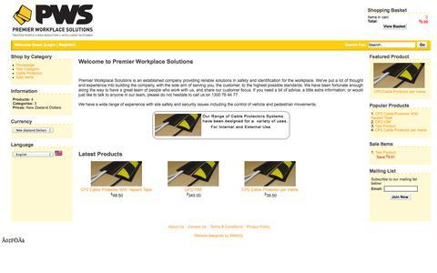 Screenshot of Home Page courageandwisdom.net.au - PWS Online - captured Oct. 3, 2014