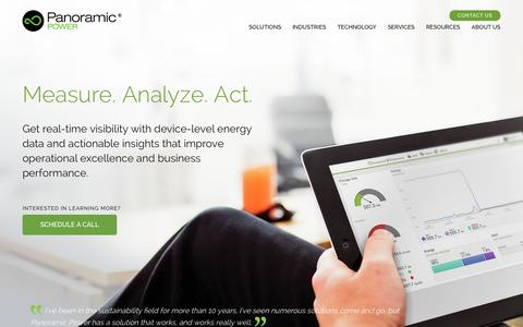 Screenshot of Home Page panpwr.com - Energy Management Solutions | Panoramic Power - captured July 3, 2015