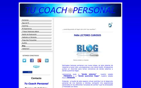 Screenshot of Blog tu-coach-personal.com - TU COACH PERSONAL - Blog - captured Oct. 29, 2014