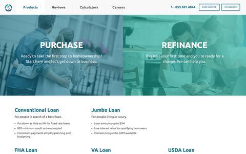 Screenshot of Products Page sebonic.com - Products   Sebonic Financial - captured Jan. 20, 2020