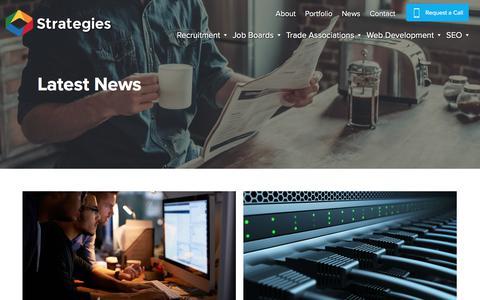 Screenshot of Press Page strategies.co.uk - Strategies News, Blog, and Advice - Strategies - captured Sept. 22, 2018