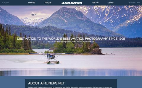 Screenshot of About Page airliners.net - About Airliners.net & Our Aviation Community | Airliners.net - captured Aug. 19, 2016