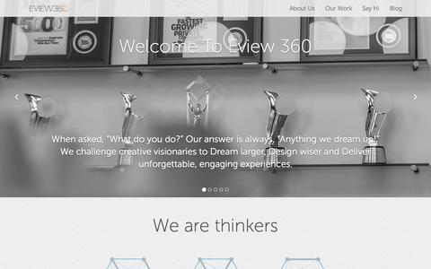 Screenshot of About Page eview360.com - Eview 360 Design Agency - captured Sept. 30, 2014