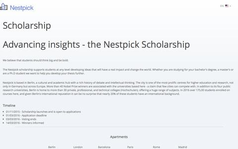 Advancing insights - Nestpick Scholarship • Nestpick