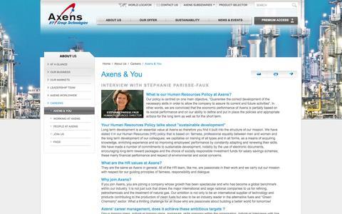 Screenshot of Jobs Page axens.net - Axens & You - captured Sept. 30, 2014